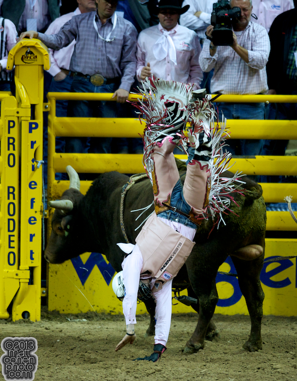 2013 NFR Bull Riding Stock - Bad Habit of Korkow Rodeos