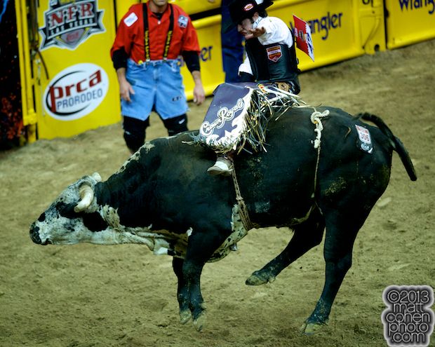 2013 NFR Bull Riding Stock - Drop Time of Beutler & Son Rodeo