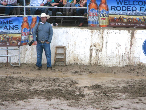 Where not to stand - 2014 Clovis Rodeo