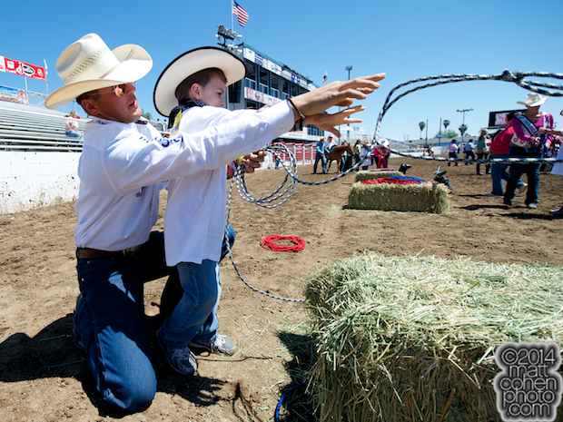 Trevor Knowles teaches roping
