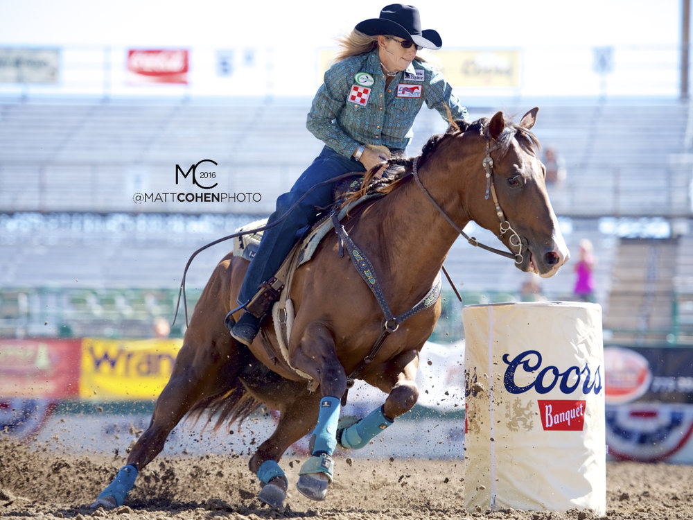 2016 WNFR: Wrangler National Finals Rodeo Qualifiers: Barrel Racing #14 Jana Bean
