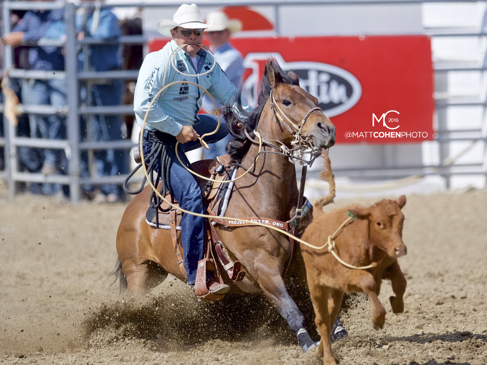 2016 WNFR: Wrangler National Finals Rodeo Qualifiers: Tie-Down Roping #11 Matt Shiozawa