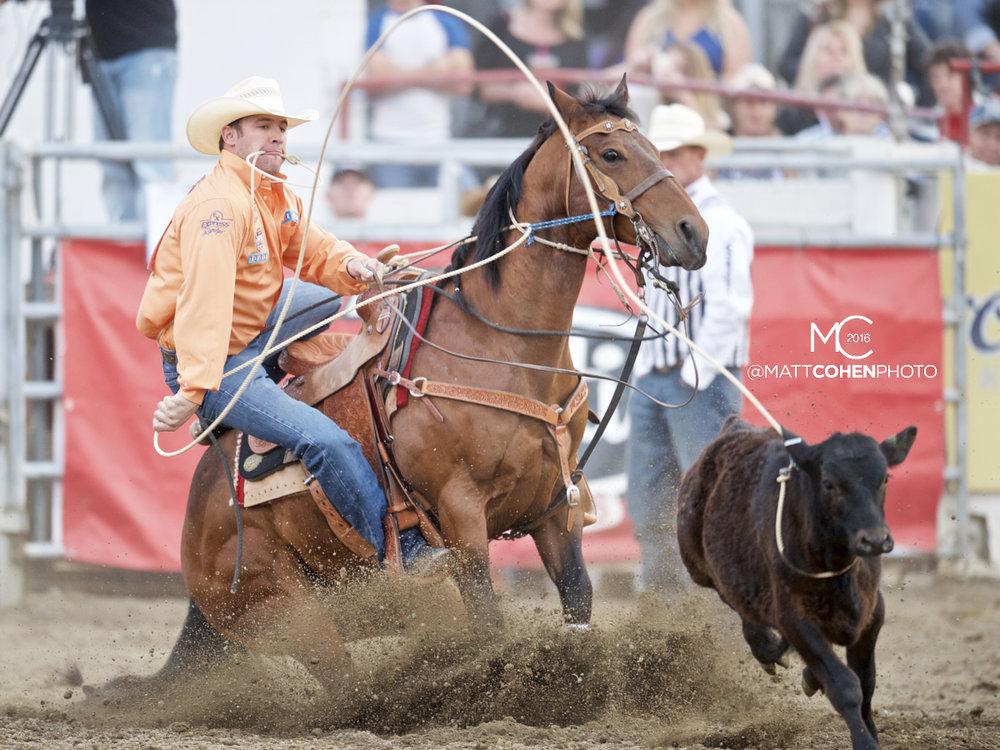 2016 WNFR: Wrangler National Finals Rodeo Qualifiers: Tie-Down Roping #3 Hunter Herrin