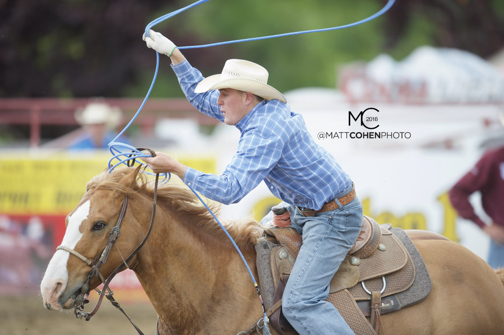 2016 WNFR: Wrangler National Finals Rodeo Qualifiers: Team Roping Headers #9 Garrett Rogers
