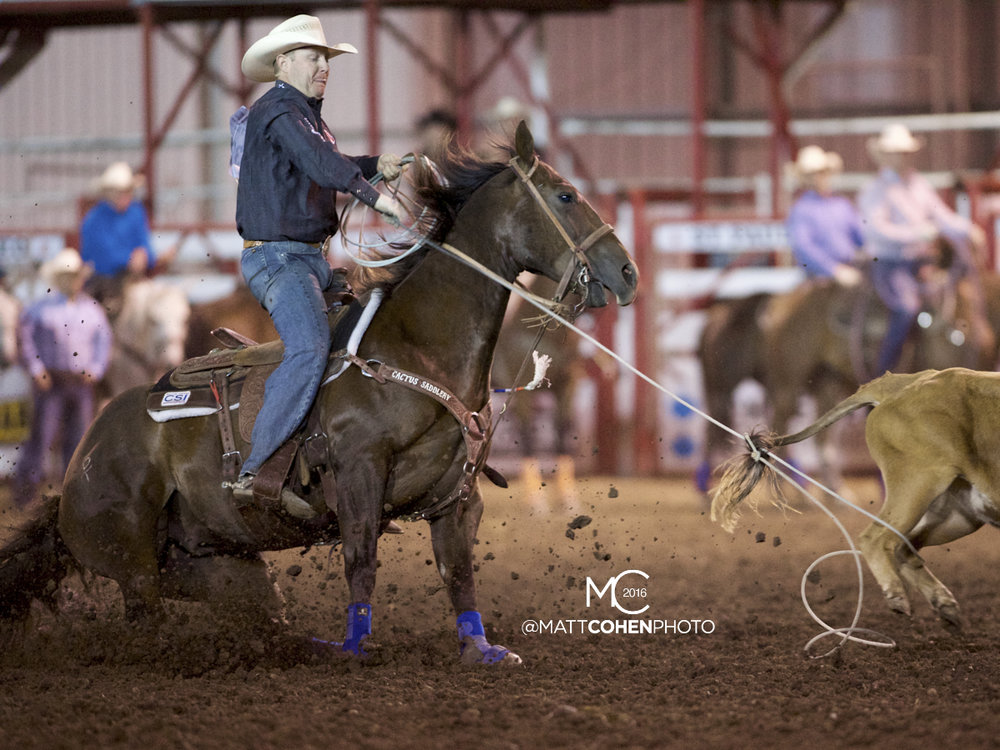 2016 WNFR: Wrangler National Finals Rodeo Qualifiers: Team Roping Heelers #5 Brady Minor