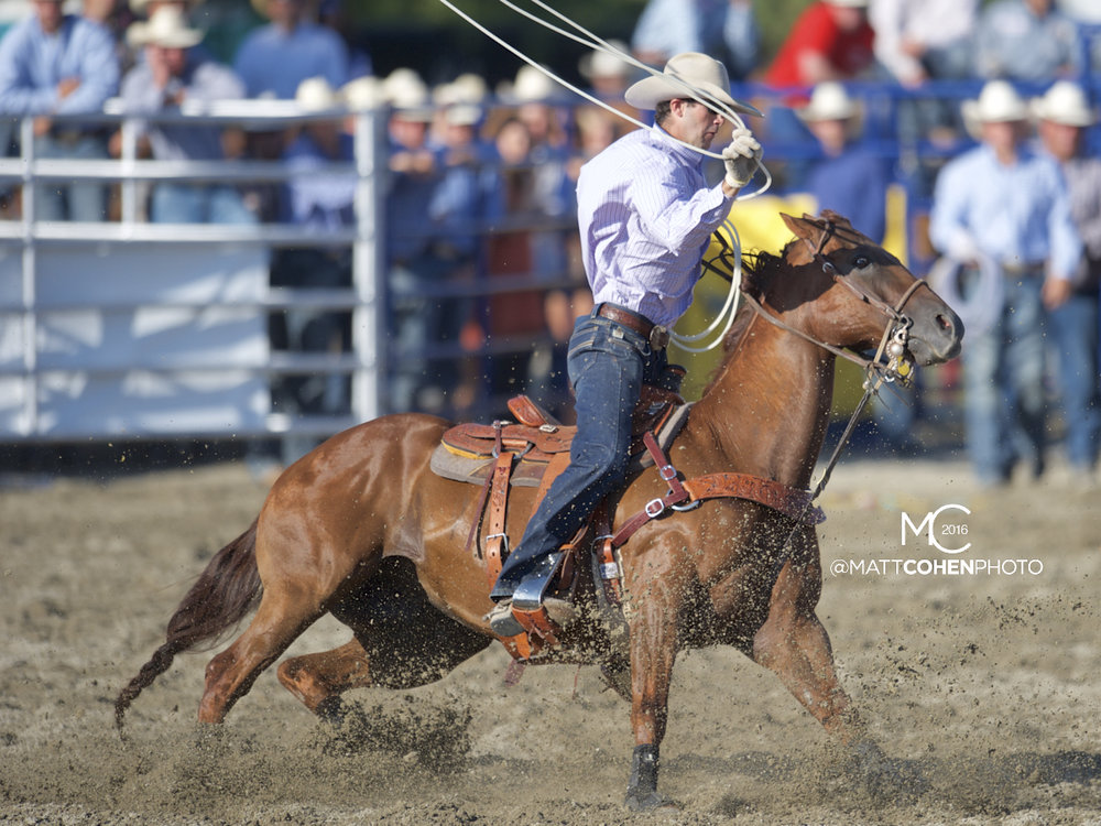 2016 WNFR: Wrangler National Finals Rodeo Qualifiers: Team Roping Heelers #10 Dakota Kirchenschlager
