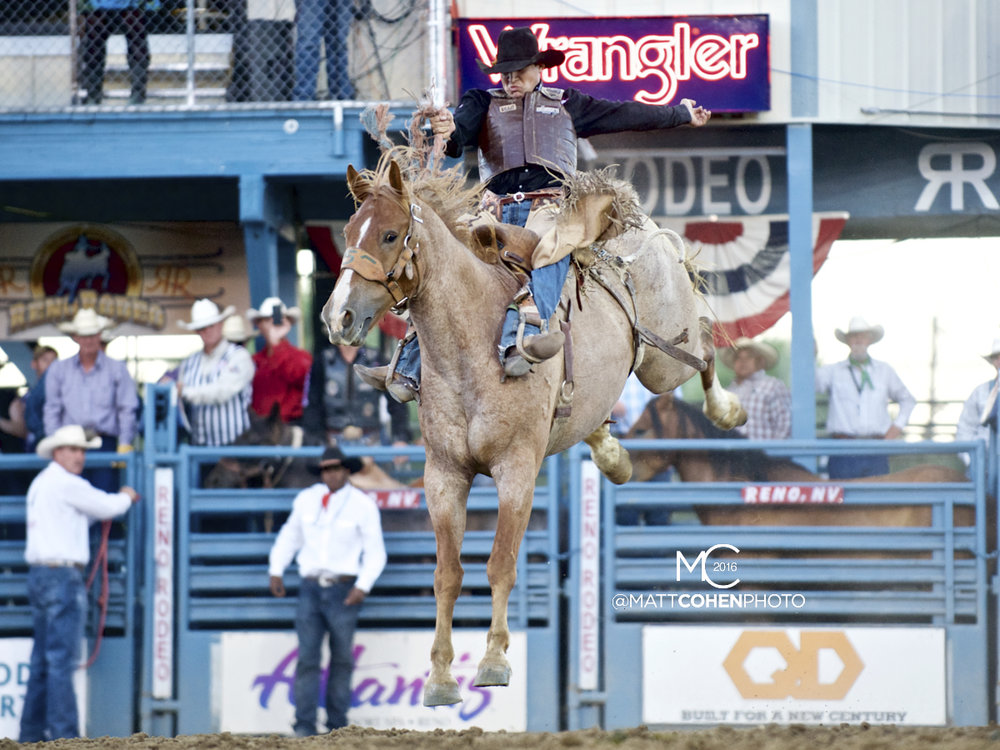 2016 WNFR: Wrangler National Finals Rodeo Qualifiers: Saddle Bronc #13 Chuck Schmidt