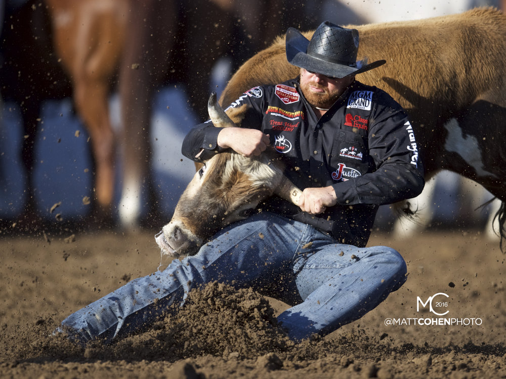 2016 WNFR: Wrangler National Finals Rodeo Qualifiers: Steer Wrestling #4 Clayton Hass