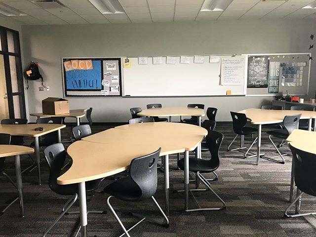 The view from where I stood for 178 days. These seats were filled with all the different, awesome kids that I had the privilege to teach — some days I loved them, some days I wanted them out of the room asap, but I really did miss them as they ran out the door and yelled their goodbyes. Everyone says that the first year of teaching is the hardest. But I am grateful that I had such an amazing sixth grade team explaining routines and making my copies, a middle school that felt like a true community, and student families who supported me. It has been a great first year as a Spartan, and I can't wait to make year two even better. HAGS, kids!!