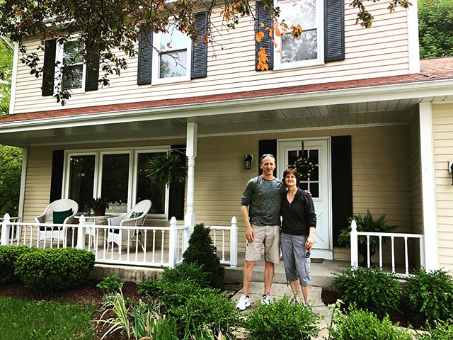 My parents celebrated 25 years of marriage today. We visited the first house they bought together — the house I grew up in, the house where we wrote our initials (sans Brett, sorry Brett!) in the concrete by the basketball hoop, the house that established my love of hardwood and porches — and were impressed by how well it has held up over time. Well, I'm impressed by how strong their relationship has been for the last two and a half decades. Here's to the next 25. I love you both💜