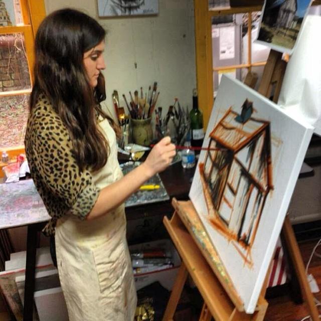 Kate Mullin Art Painting Studio