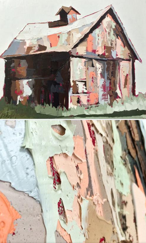 Kate Mullin Art Barn Painting drip