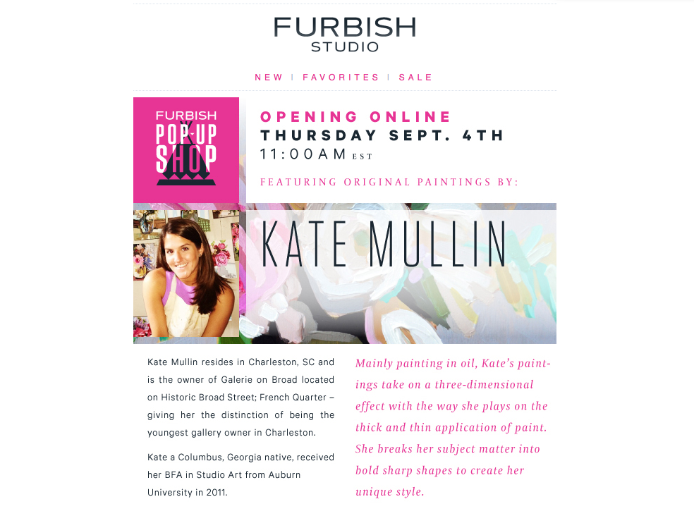 Kate Mullin Art on Furbish Studio