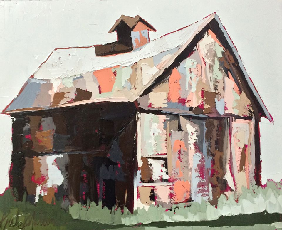 Kate Mullin Art. Barn Painting