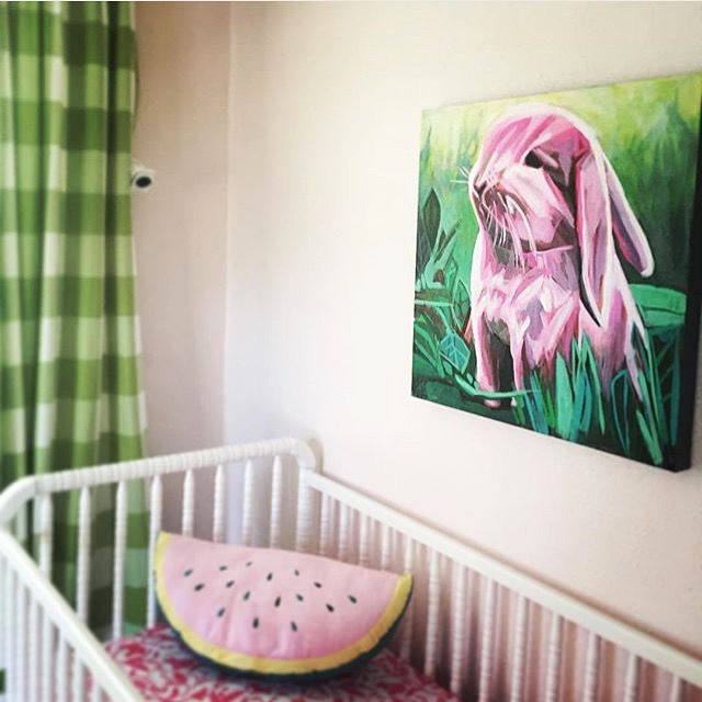 Kate Mullin Art. Bunny Painting