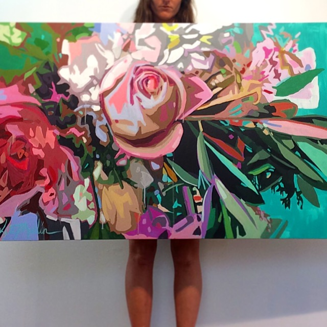 Kate Mullin Flower Explosion Painting