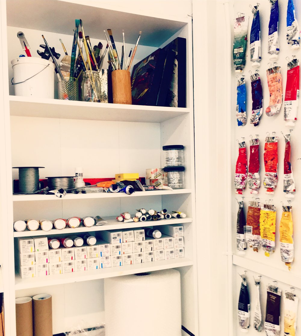 Kate Mullin's Organized Studio