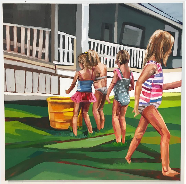 Kids Playing by Kate Mullin  Figures