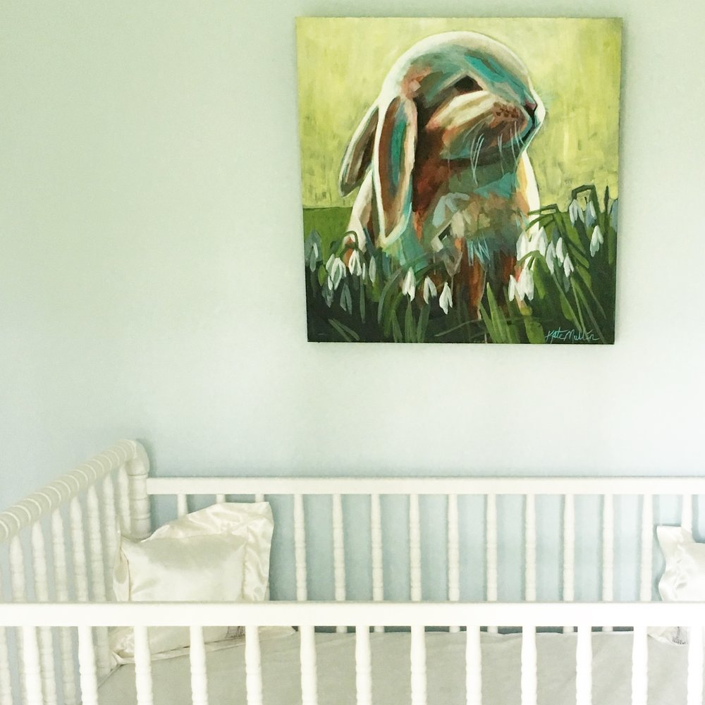 Kate Mullin Bunny Painting