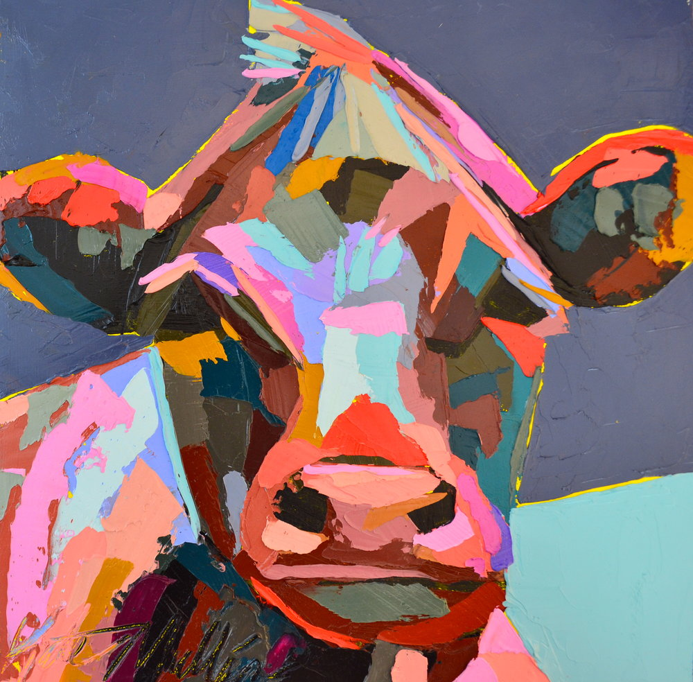 Cow Painting by Kate Mullin Art
