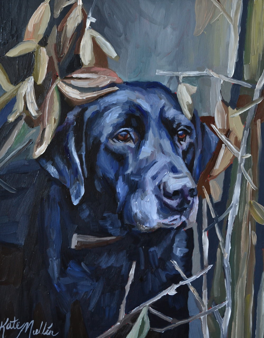 Kate Mullin Art Dog Painting
