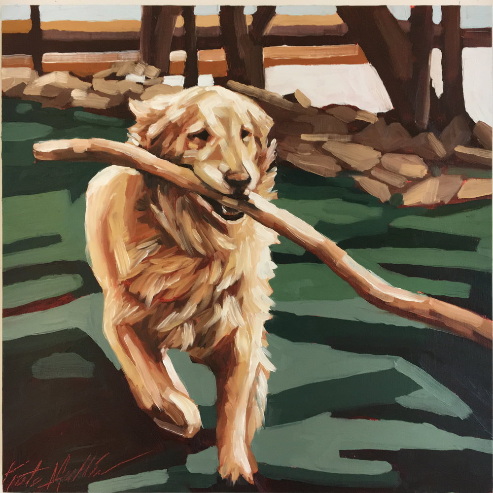 Kate Mullin Williford Art Dog Painting