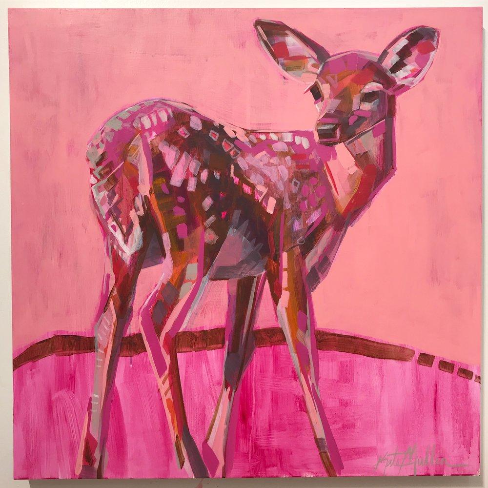 Kate Mullin Deer Painting