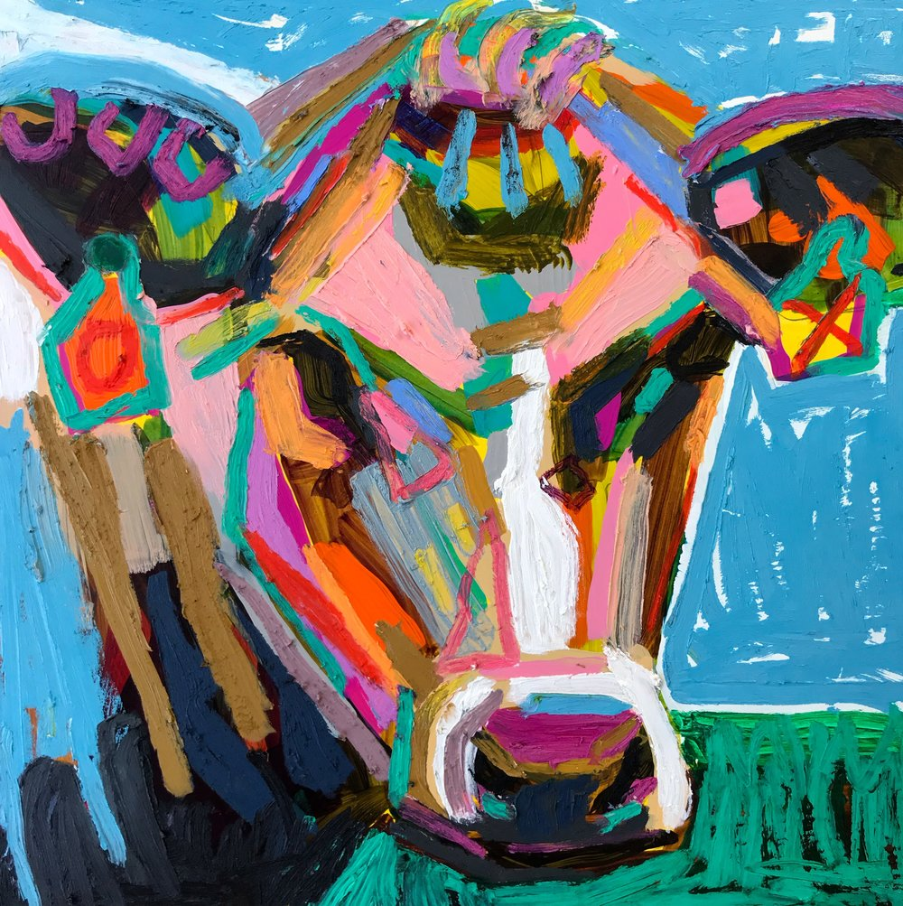 Cow by Kate Mullin Art