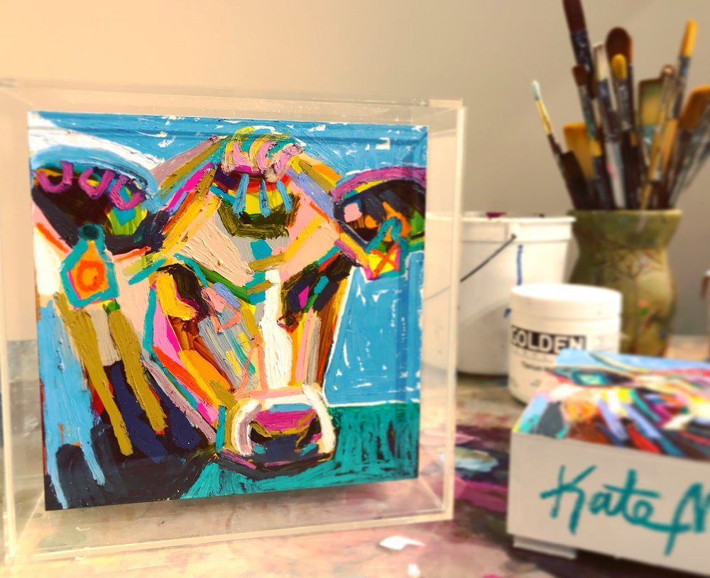 Cow painting by Kate Mullin Williford Art