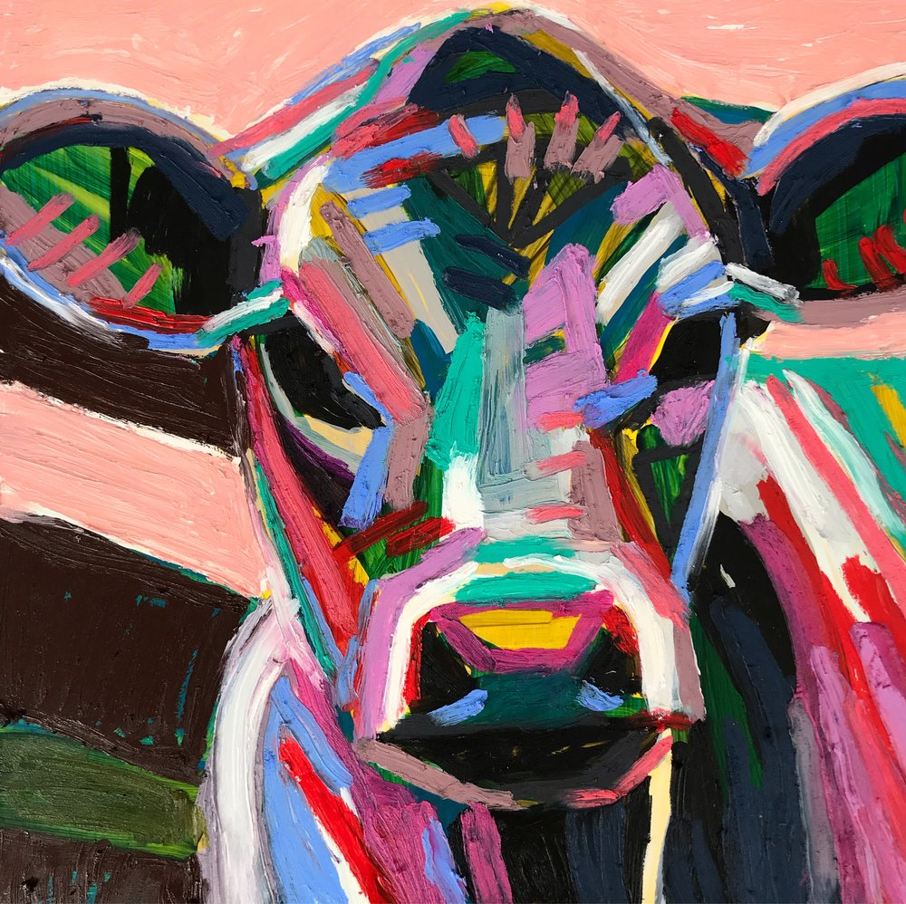 Kate Mullin Art. Cow Painting