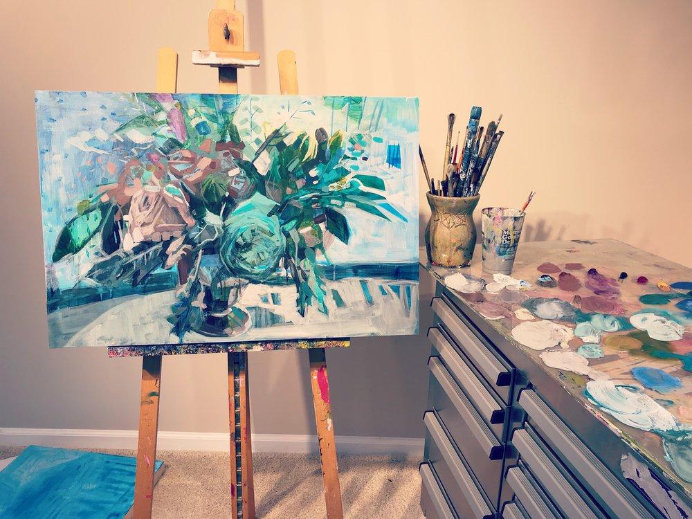 Kate Mullin Art Flower Painting