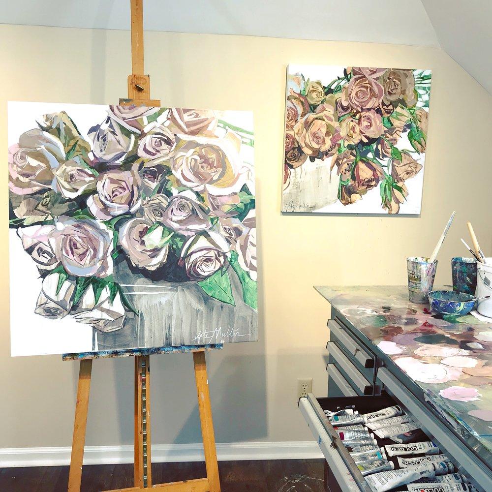 Kate Mullin Williford Art. Floral