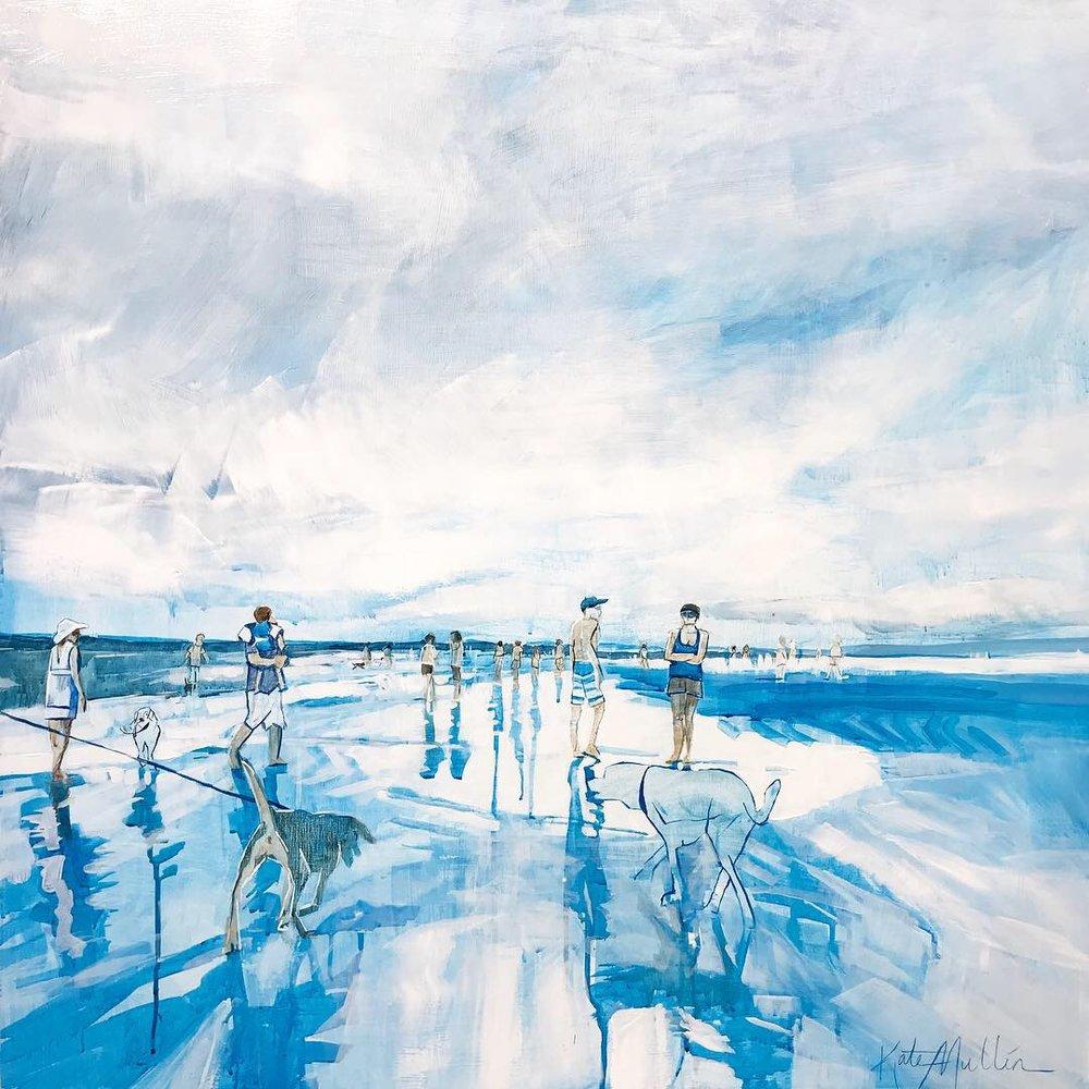 Kate Mullin Art Beach Painting Dogs