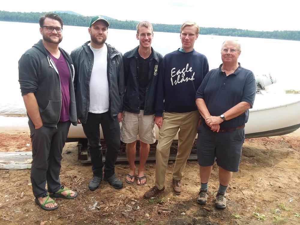 Zella's sons (Tripp), Nat , Will, Harrington Gow. Peter Gow, Mimi sailboat..jpg