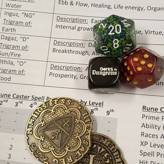 Playing a #runecaster tonight. What is your favorite home brew class? . . . . . #dorks #dorksindungeons #d20 #dungeonsanddragons #dnd #pathfinderrpg #savageworlds #rpg #tabletopgames #improvcomedy #portsmouthnh #tabletoprpg #faterpg #seacoastnh #dungeonworld #rune #runes #runestone #futhark