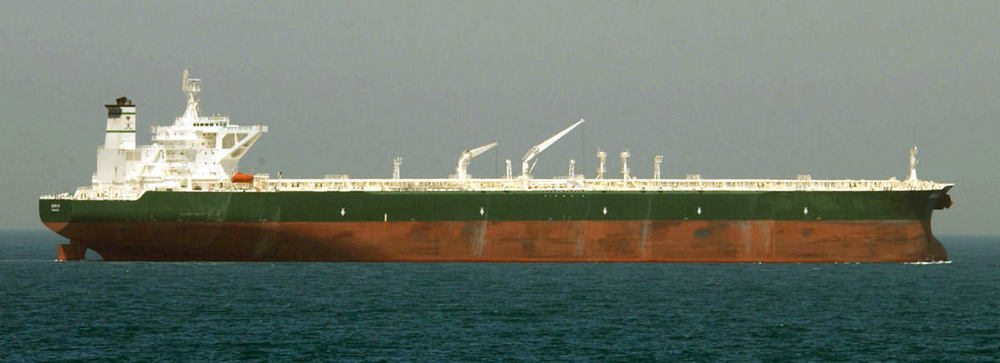 Oil supertanker  Ab Qaiq . US Navy photo via  Wikimedia .