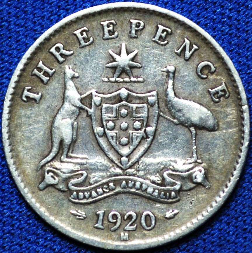 Fine photograph of an early Australian threepenny coin. Used with permission from  TDK APDC .