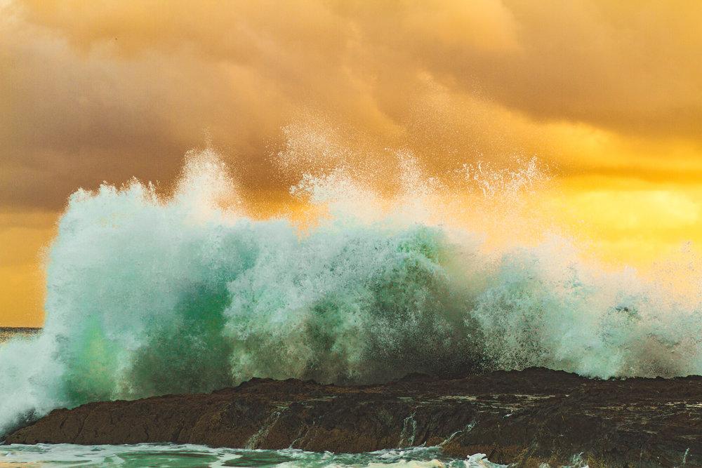 Waves at Coolangatta, Australia. Pic by  Jordan Donaldson .