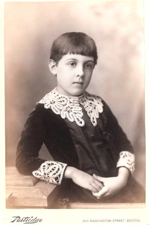 Portrait of child Brianna's age. Photo by  Partridge , Boston around 1900.