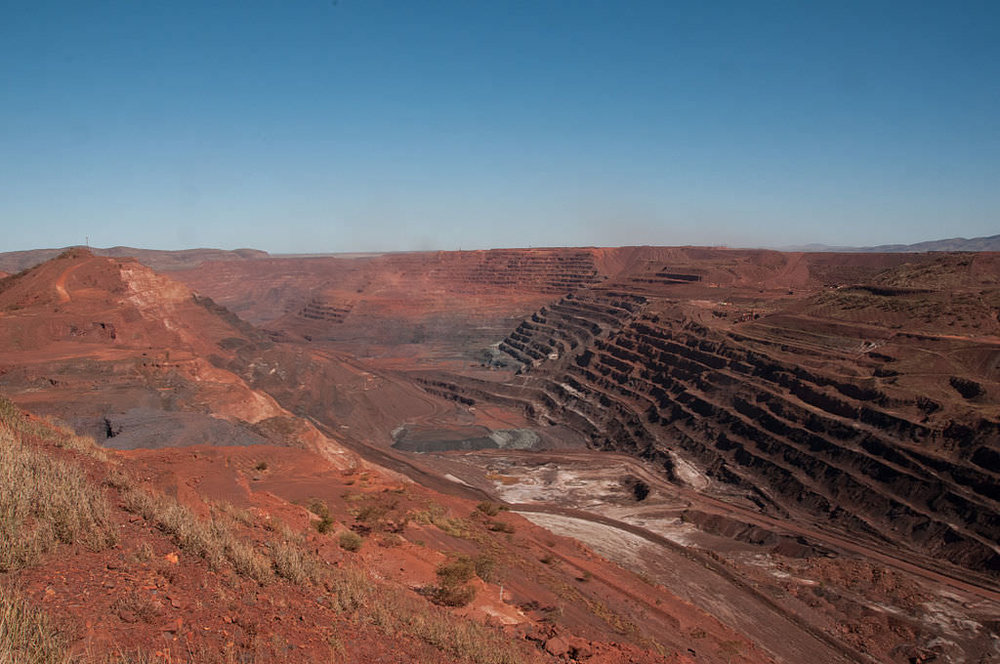 Iron Ore Mine, Formerly a Mountain. Photo by  Graham Churchard .