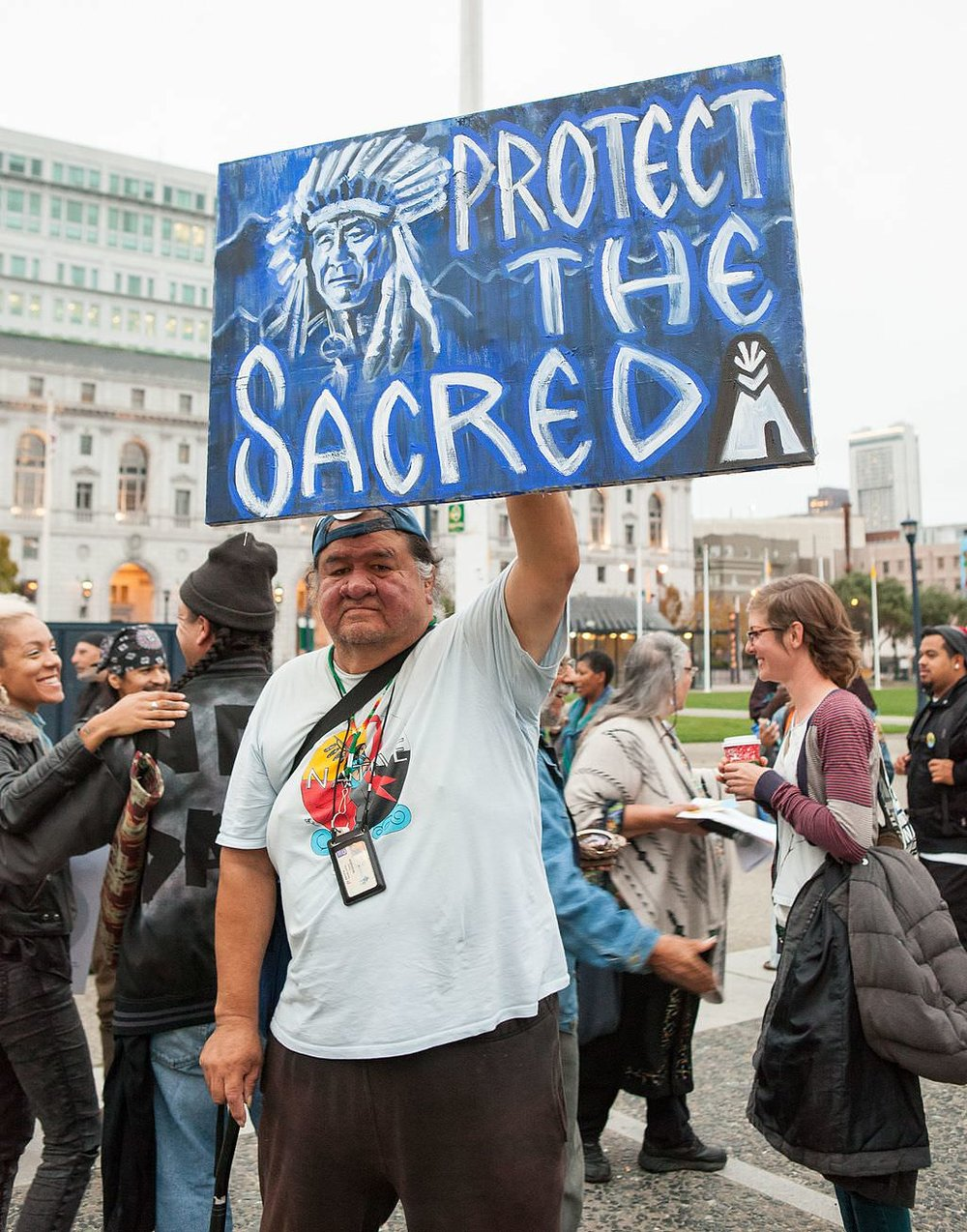 Standing strong at San Francisco in solidarity with Standing Rock. Pic by  Pax Ahimsa Gethen .