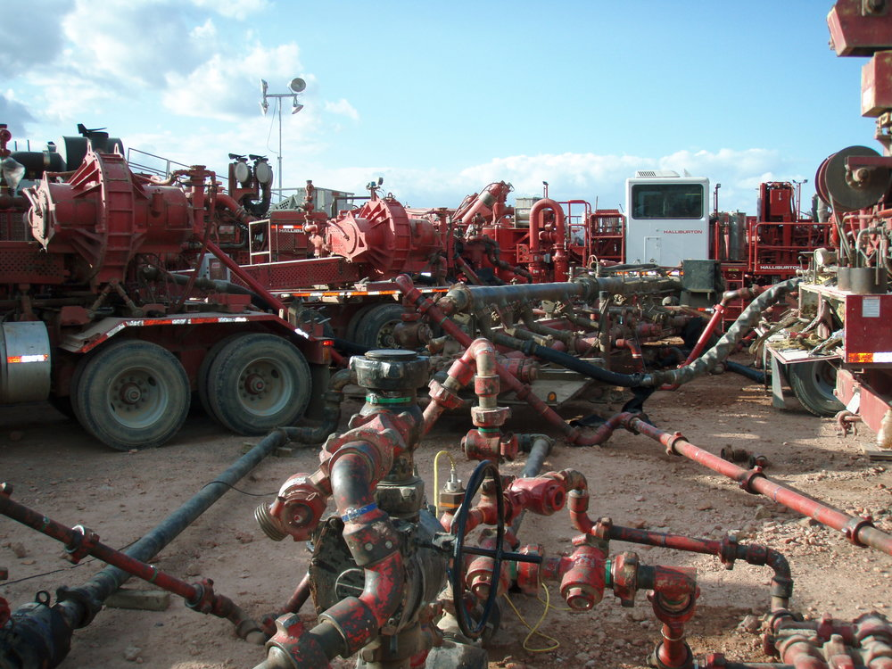 Fracking equipment. Photograph by  Joshua Doubek .