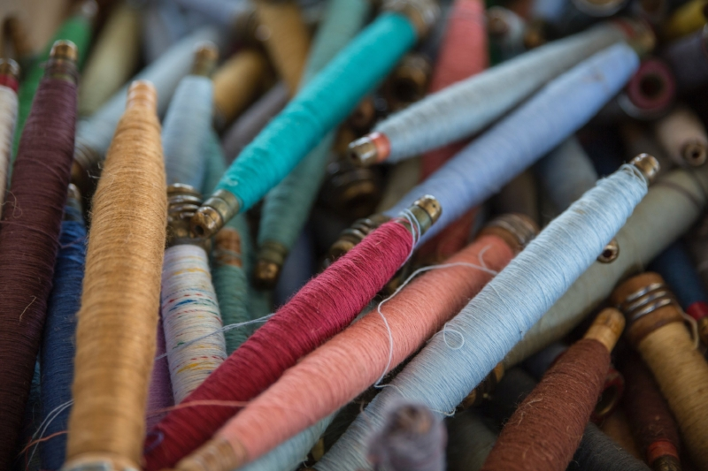 Silk threads. Photograph by  Terri Bleeker .