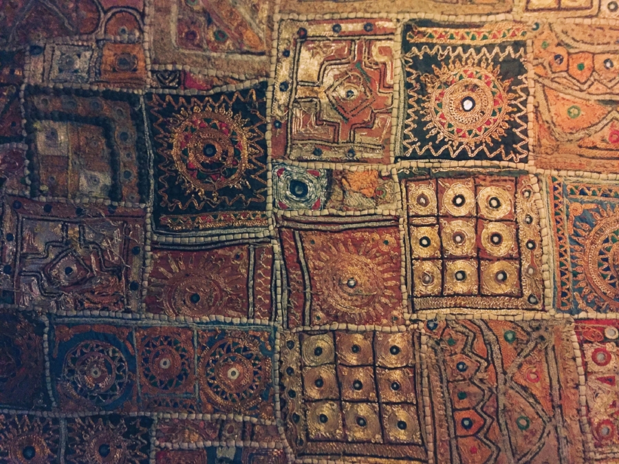 Patterns of a Rajahstani quilt. Photograph by  Igor Ovsyannykov .
