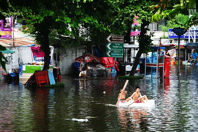 Monsoonal flooding afflicts the poor in Southeast Asia. Photo by  Terimahkasih0 .