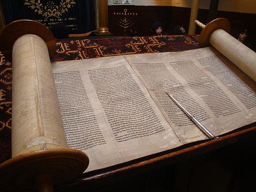 Open Jewish holy book, The Torah. Photo by  Jonund .