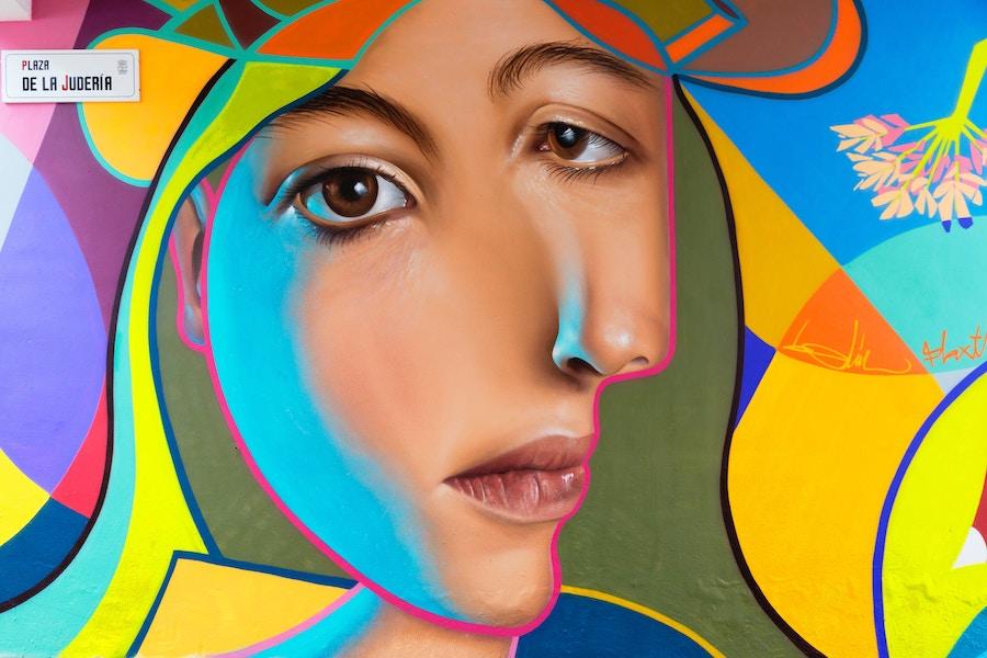 """'Approach it like a game,' Artwork by Miguel Angel Belinchón Bujes, """"Belin"""" , photo by  Quino Al ."""