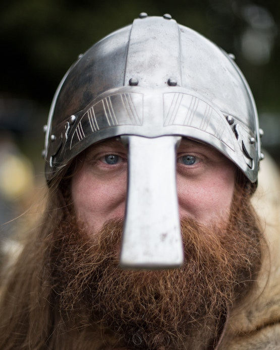 'You liked a lot to please the gods—by drinking mead.' Portrait of a Viking by  Jonathan Farber .