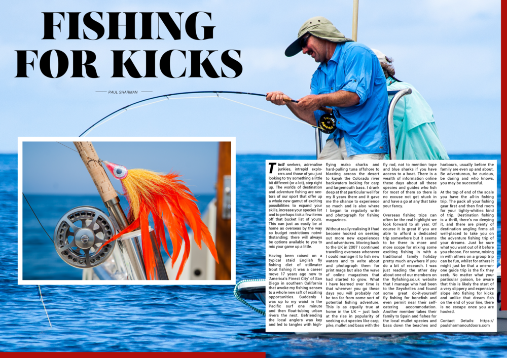 An 'orange mako bomb' and a fly angler hooked up to a hard-fighting milkfish in the Seychelles (click image for a larger version.)