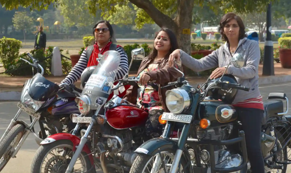 The Guardian: Rebels with a cause: the female biker clubs reclaiming Delhi's public space - In India's male-dominated capital where women are often in danger, a group of female bikers are taking to the road to reclaim women's rights to public space.